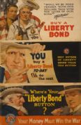 "Vintage War Poster ""Where's your ""Liberty Bond"" button? ""."